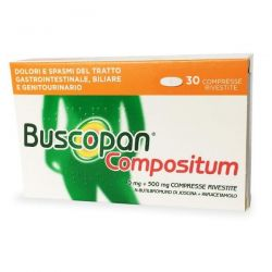 BUSCOPAN COMPOSITUM 20 COMPRESSE RIVESTITE 10 mg + 500 mg - SANOFI SPA
