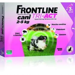 frontline tri act 3 pipette 0.5 ml cani 2-5 kg merial