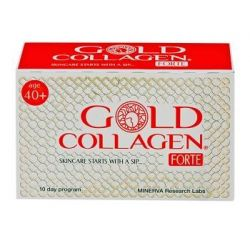GOLD COLLAGEN FORTE 10 FLACONI 50 ML - MINERVA RESEARCH LABS