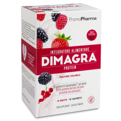 DIMAGRA PROTEIN FRUTTI ROSSI 10 BUSTINE - PROMOPHARMA SPA